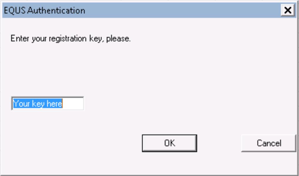EQUS authentication