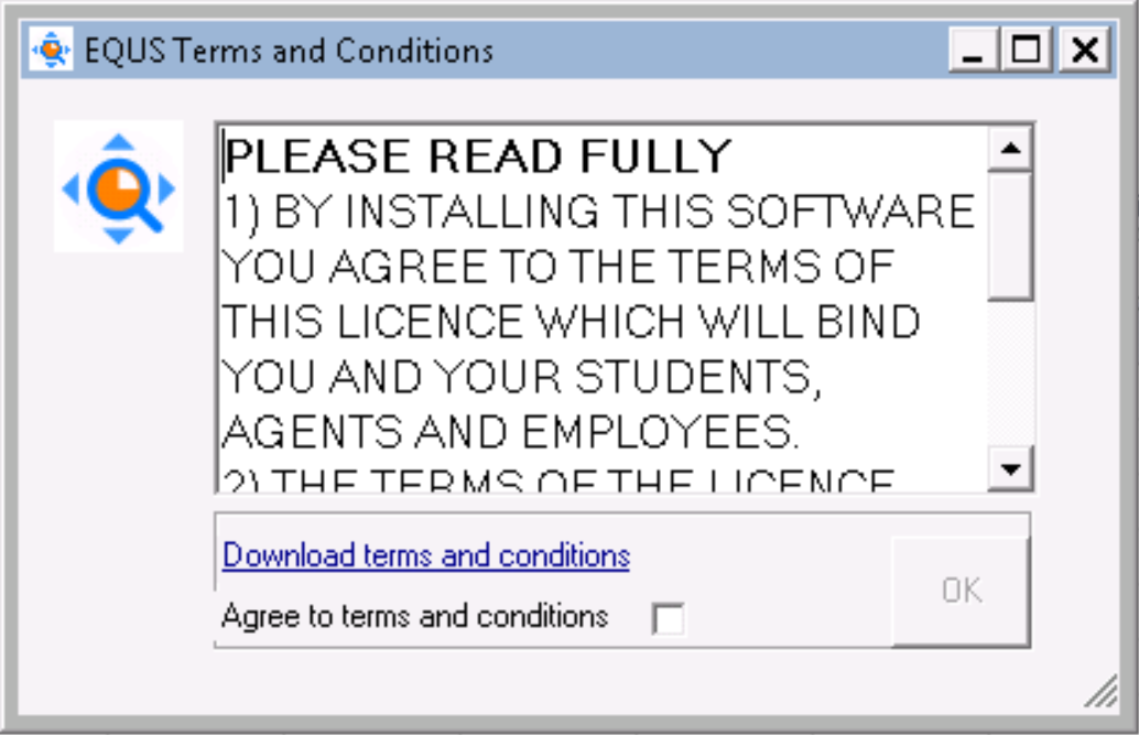 EQUS terms and conditions