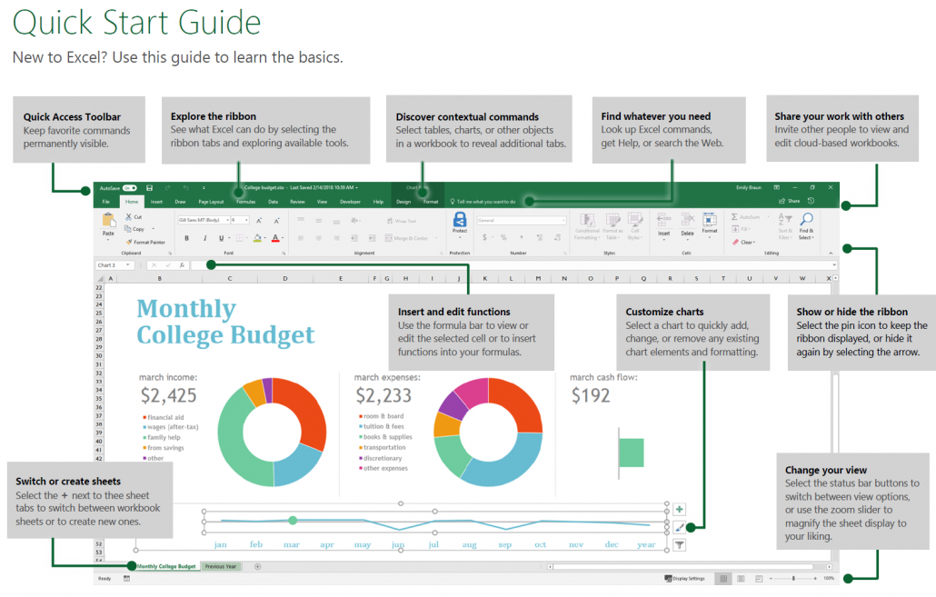 Microsoft Excel Quick Guide