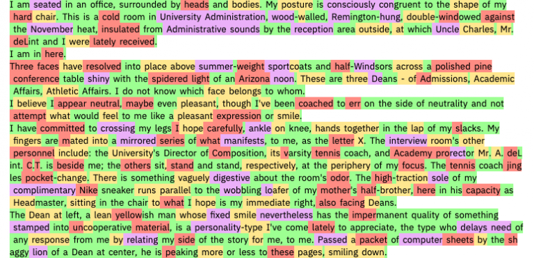 Algorithm to detect AI generated text